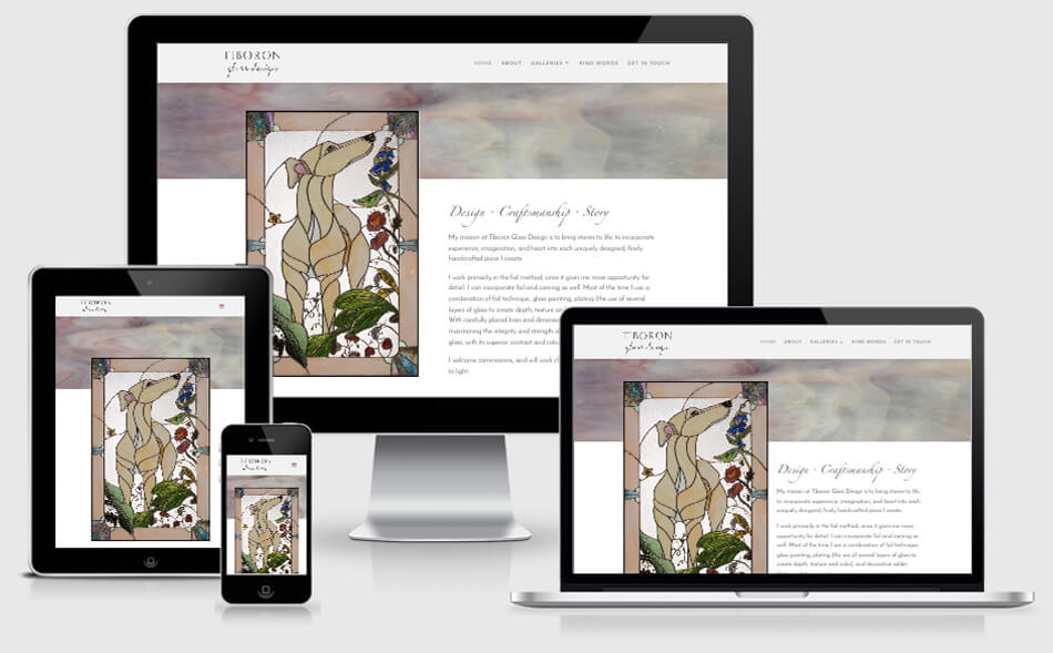 Tiboron Glass Design website