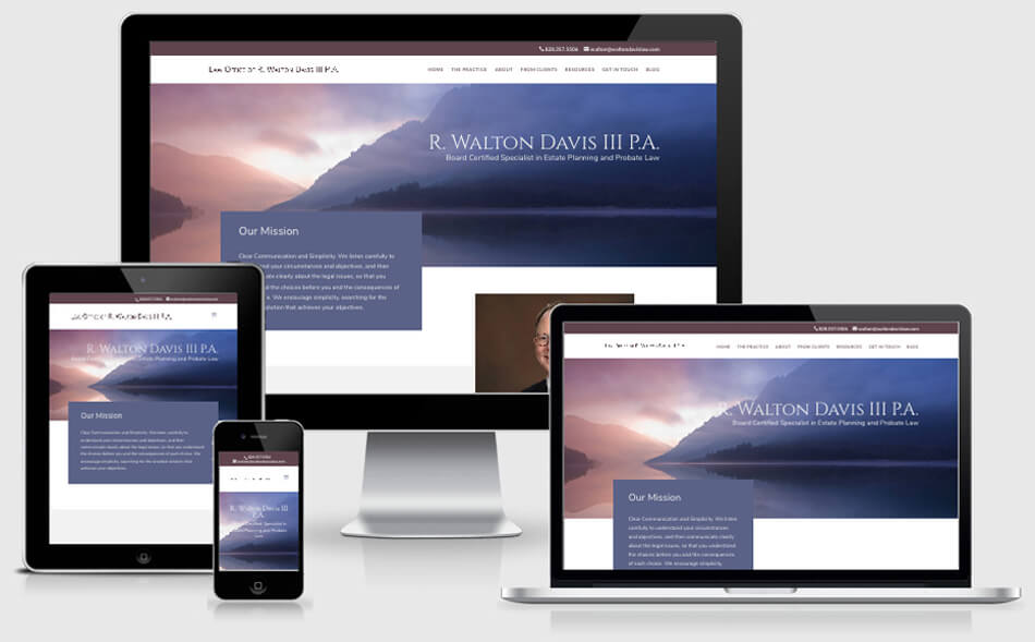Walton Davis Law website
