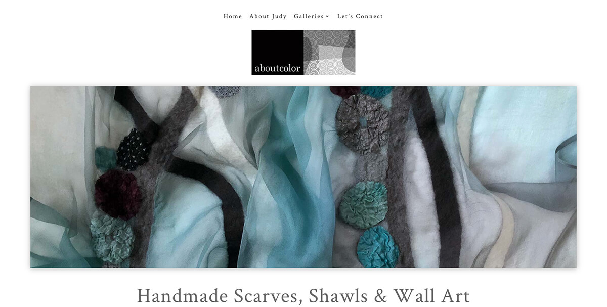 aboutcolor Scarves, Shawls, Wall Art by Judy Levine